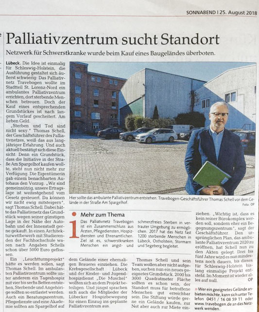 travebogen palliativzentrum standort